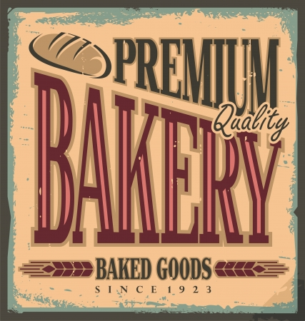 bakery products: Vintage bakery sign