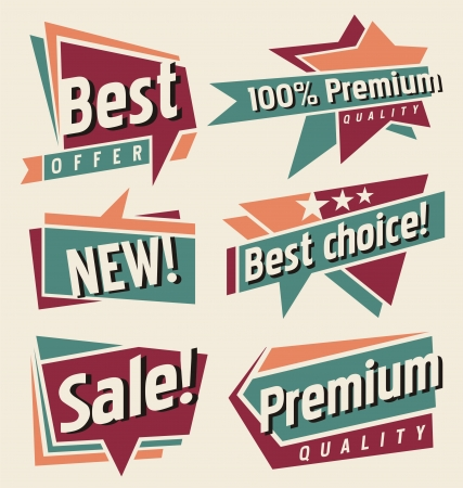 special offer: Set of retro promotional labels