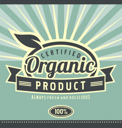 Vintage organic product poster design Stock Vector - 20847226