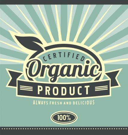 Vintage organic product poster design