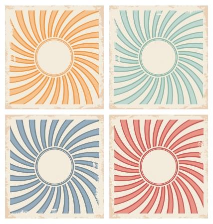 card illustration with sun design template Stock Vector - 21086612