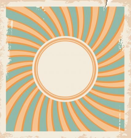 card illustration with sun design template Stock Vector - 21086616