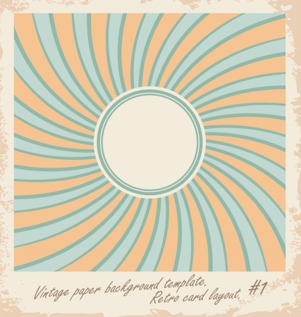 card illustration with sun design template Stock Vector - 21086623