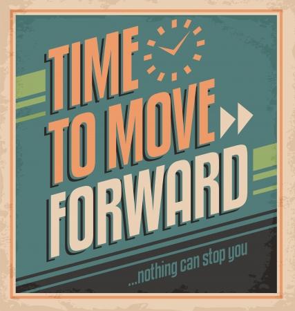 moving: Vintage poster design