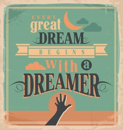 slogan: Concepto de diseño del cartel creativo con mensaje de motivación Vectores
