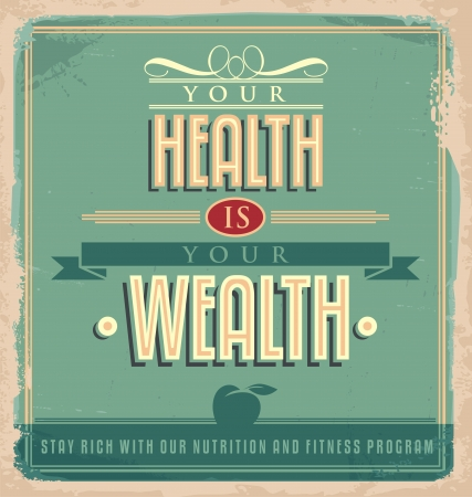 Vintage poster design with motivational message Vector
