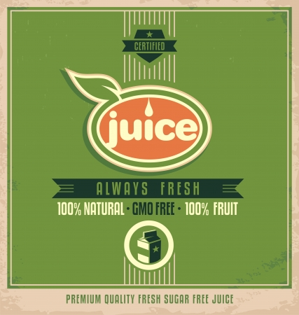 elipse: Promotional vintage printing material for organic juice