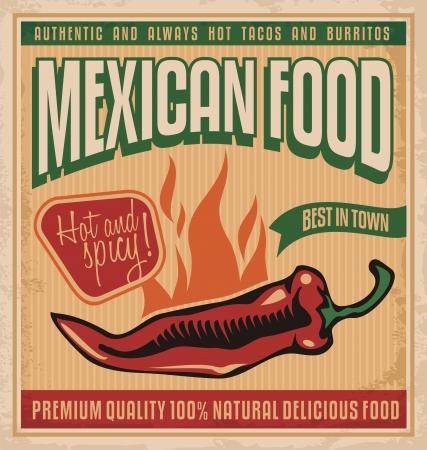 Mexicaans eten Stock Illustratie