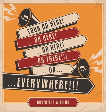 Reclame en marketing creatief concept ontwerp Stock Illustratie