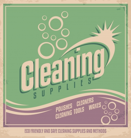 poster design: Vintage poster design for cleaning service Illustration