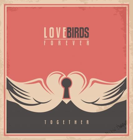 unique concept: Love birds, unique creative concept