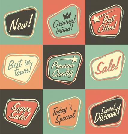 label retro: Etiquetas Retro Vectores