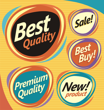 design elements: Vector badges, labels, emblems, signs and promotional stickers collection
