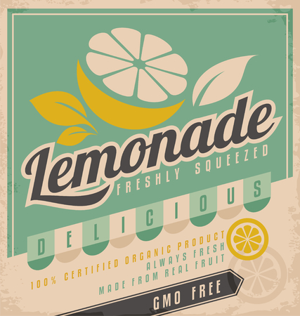 retro design: Lemonade ad Illustration
