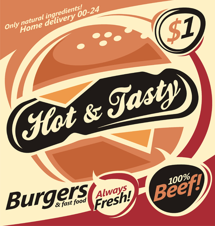gourmet burger: Burger Illustration