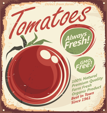 farm sign: Tomatoes vintage metal sign