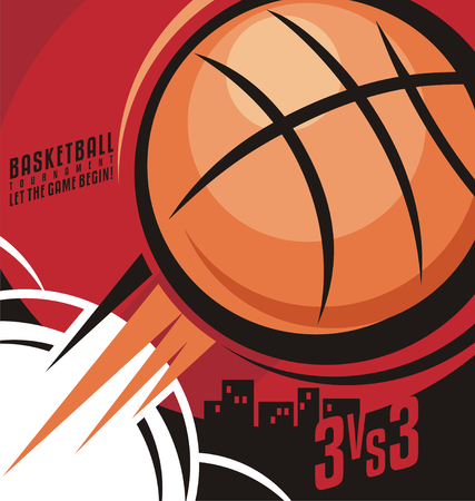 basketball tournaments: Basketball poster design