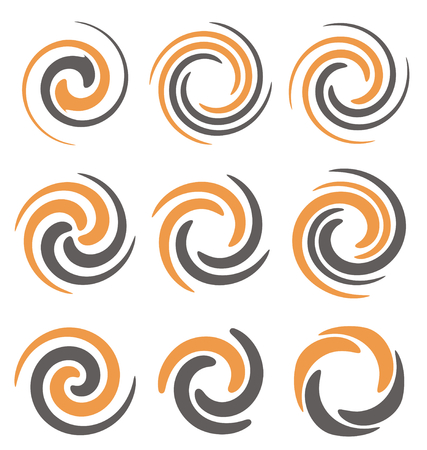 Swirl and spiral logo design elements