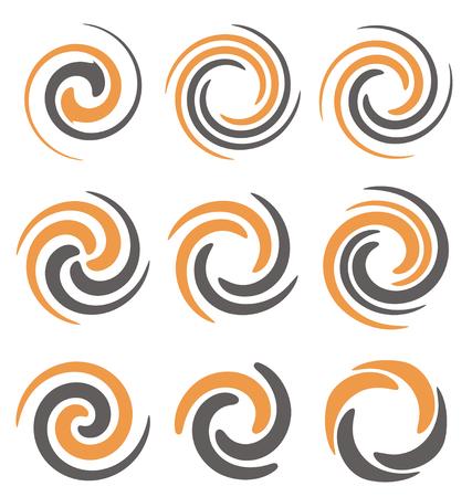 Swirl and spiral logo design elements