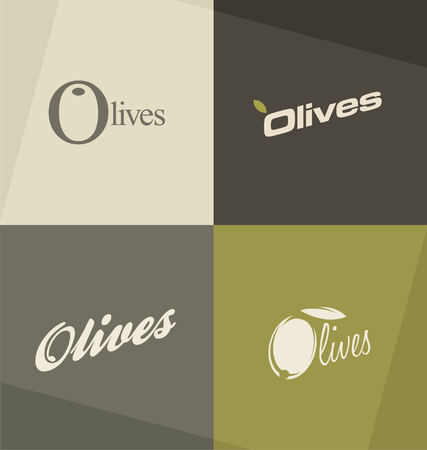 advertising logo: Set of unique olives logo design concepts and ideas