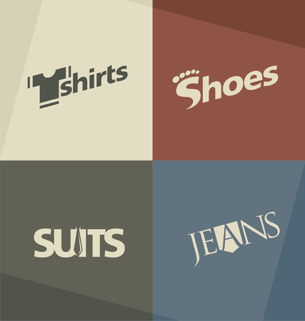 Set of fashion design concepts and ideas Vector