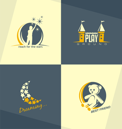 kindergarden: Unique and minimalistic kids logo design concepts