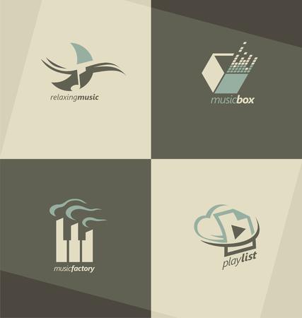 Musical logo design concepts Illustration