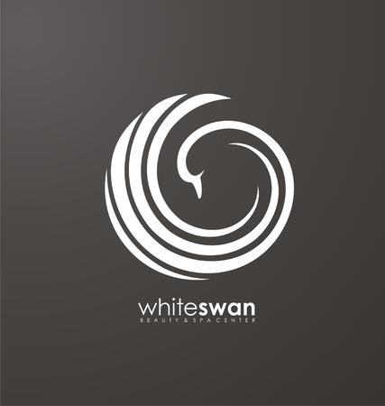 lady bird: Swan icon design concept