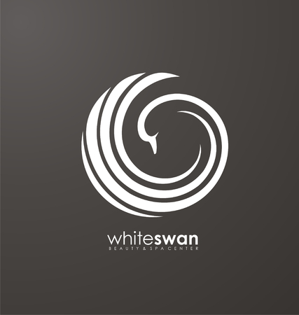 Zwaanpictogram ontwerpconcept
