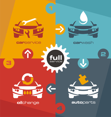 car transmission: Full car service info graphic