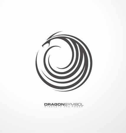 Draak symbool uniek concept