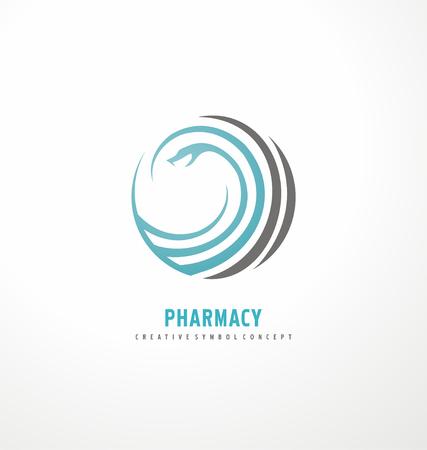 pharmaceutical company: Vector pharmacy corporation symbol concept Illustration