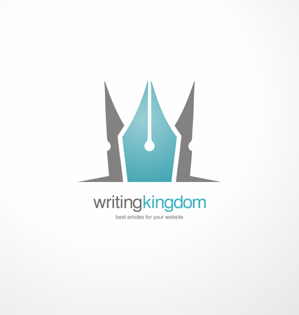 article writing: Creative vector symbol for article writing Illustration