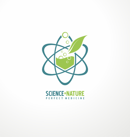 atom symbol: Science and nature for perfect medicine Illustration