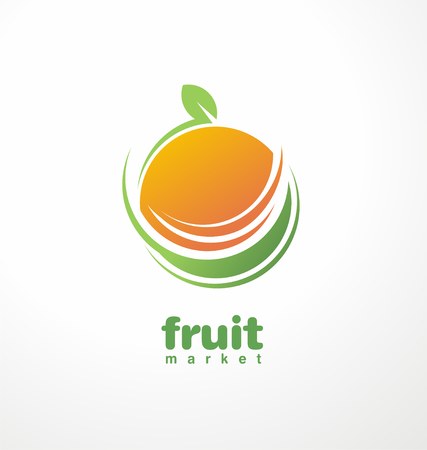 orange juice: Fruit Illustration