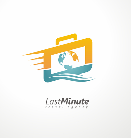 agencia de viajes: Símbolo de concepto creativo para agencias de viajes Vectores