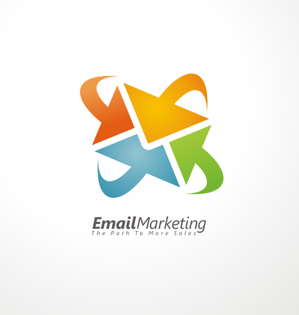 creative design: Email marketing creative design concept Illustration
