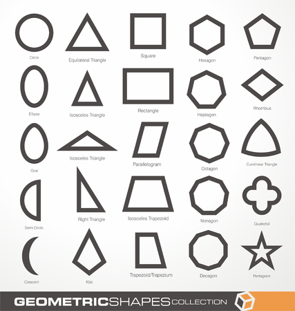 Set of geometric shapes