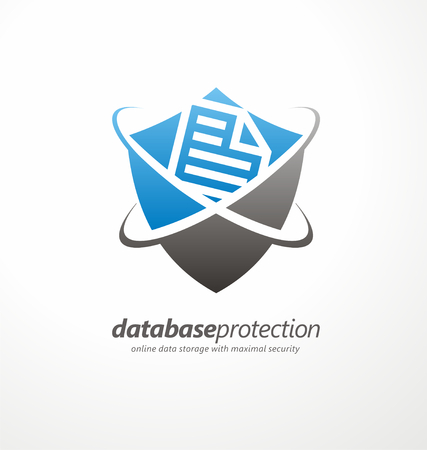 secure data: Data protection symbol concept