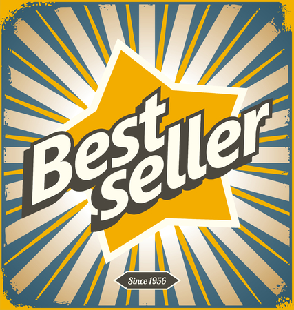 bestseller: Bestseller retro tin sign design