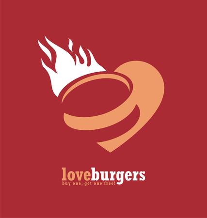 hamburgers: Minimalistic ad design for fast food restaurant