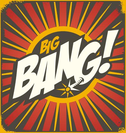 explosion: Vintage comics illustration concept