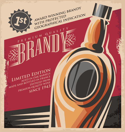 Brandy vintage poster design template