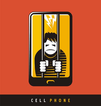 prison cell: Smartphone