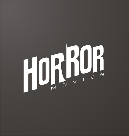 negative space: Creative and unique typography for horror movies website or blog with knife in negative space