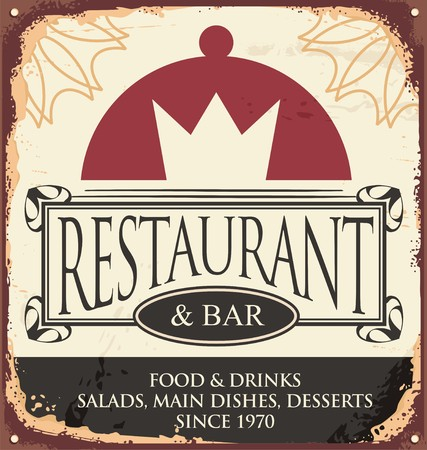 vintage sign: Vintage restaurant sign template