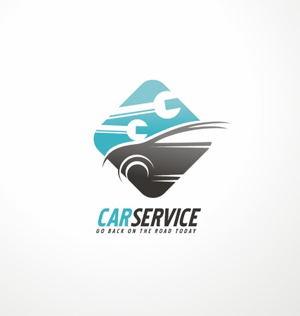 fast car: Car service Illustration