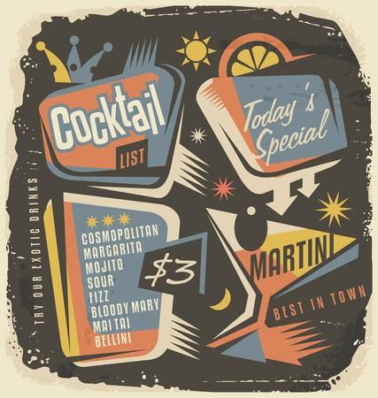 chalk board: Cocktail list creative and unique template
