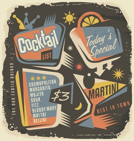 Cocktailkaart creatieve en unieke sjabloon