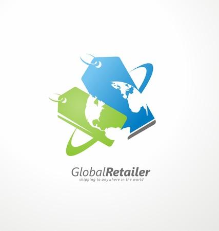 online logo: Online shop creative symbol concept